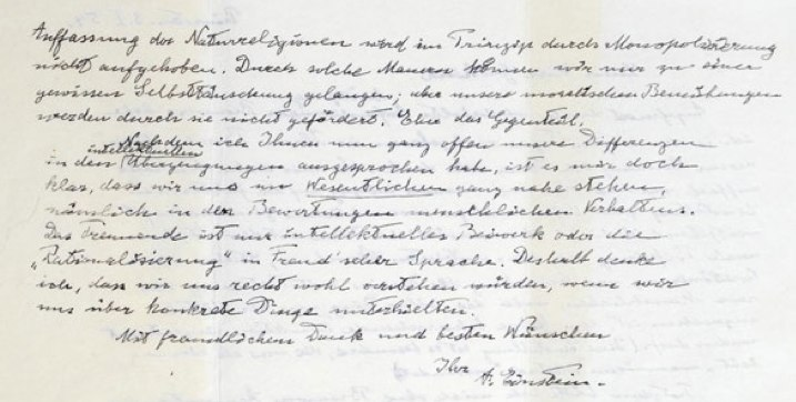 Einstein's letter to a philosopher sold at auction for ...