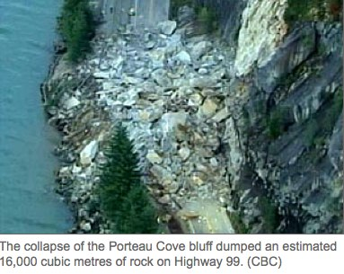 Bus dodges massive rock slide on B.C. coastal highway.jpg