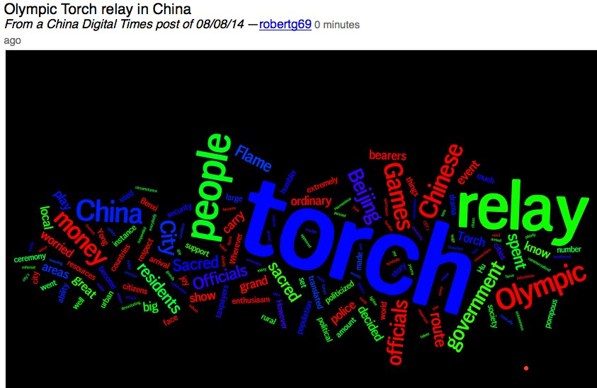 Wordle - Olympic Torch relay in China.jpg